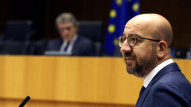 Photo of وصول رئيس المجلس الأوروبي شارل ميشال إلى بيروت على رأس وفد