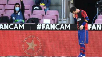 "Photo of تغريم برشلونة بسبب ""قميص مارادونا"""